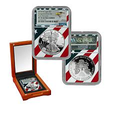"2018-W PF70 NGC ""Congratulations Set"" Ultra Cameo Silver Eagle Dollar"