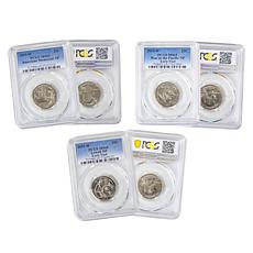 2019 MS65 PCGS First Three West Point Mint National Park Quarters