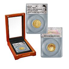 2019 MS70 FDOI LE 324 Apollo 11 50th Anniversary $5 Gold Coin