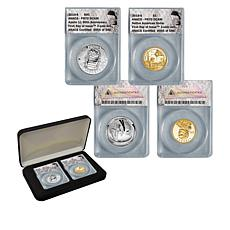 2019 PR70 FDOI Apollo 11 Half Dollar and Native American Dollar Set