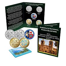 2019 San Antonio Missions National Park  5-Coin Quarter Set