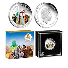 2019 The Wizard of Oz 80th Anniversary Colorized Tuvalu $1 Silver Coin