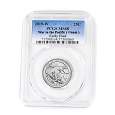 "2019-W MS65 PCGS ""Early Find"" War in the Pacific Quarter"