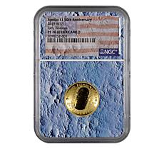 2019-W PF70 NGC Apollo 11 50th Anniversary $5 Gold Coin