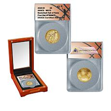 2020 MS70 ANACS FDOI LE 18 Basketball Hall of Fame $5 Gold Coin