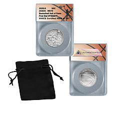 2020 MS70 FDOI Basketball Hall of Fame Clad Half Dollar