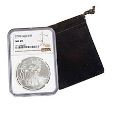 2020 MS70 NGC Silver Eagle Dollar Coin