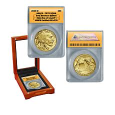 2020 PR70 DCAM First Day of Issue LE of 19 $50 Gold Buffalo Coin