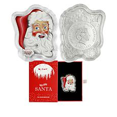 2020 Solomon Islands LE 2,500 Santa Claus 1oz. Silver $2 Coin