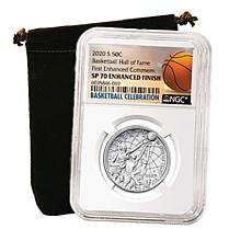 2020 SP70 Enhanced Uncirculated Basketball Hall of Fame Half Dollar