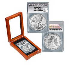 2020-W SP70 ANACS Satin-Finish Silver Eagle Dollar Coin