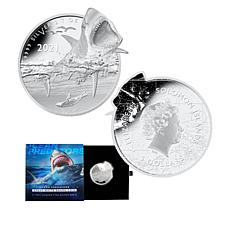 2021 Limited Edition Great White Shark 2 oz. Silver $5 Coin