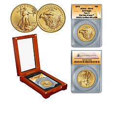 2021 MS70 First Day of Issue Limited Edition 26 Type II $25 Gold Eagle