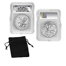 2021 MS70 ICG First Day of Issue LE 4,486 Type II Silver Eagle