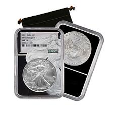 2021 MS70 NGC Silver Eagle Dollar with Silver Eagle Core - Auto-Ship®