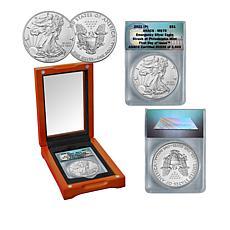 2021 Philadelphia Mint MS70 FDOI LE 3600 Emergency Silver Eagle Dollar