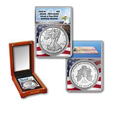 2021 PR70 ANACS Advance Release Silver Eagle with American Eagle Core