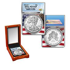 2021-W PR70 ANACS FDOI LE 4,300 Silver Eagle Dollar Coin