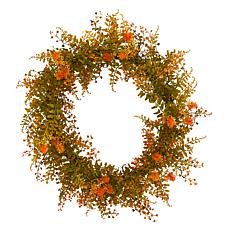 21 in. Autumn Fern Artificial Wreath
