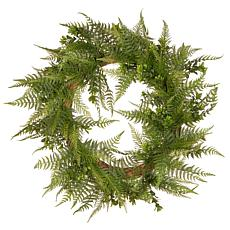 "22"" Artificial Boston Fern Wreath"