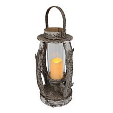 "22"" Wooden Lantern with LED Candle"