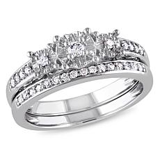 .23ctw Engagement Ring and Wedding Band 10K Gold 2pc Set