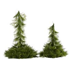 24 in. and 36 in. Table Top/Hanging Artificial Christmas Decor Set ...