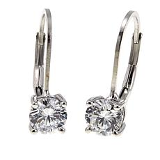 2 50ctw Absolute Sterling Silver Round Leverback Earrings