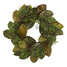 26 in. Magnolia Leaf Artificial Wreath