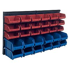 30-Bin Wall-Mounted Parts Rack