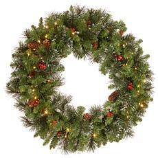 "30"" Crestwood Spruce Pre-Lit Wreath"