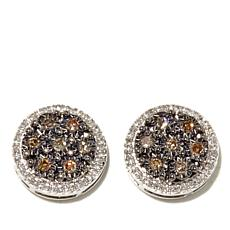 .30ctw Diamond Sterling Silver Round Pavé Stud Earrings