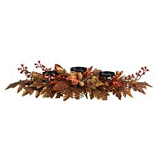 """36"""" Maple Leaves and Berries Fall Harvest Candelabrum"""