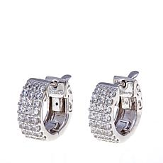 .36ctw Absolute™ Pavé Hugger Hoop Earrings