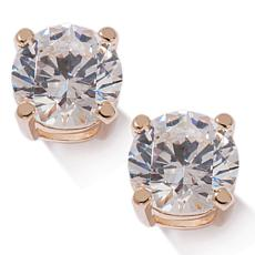 3ctw Absolute™ Round 4-Prong Gold-Plated Stud Earrings