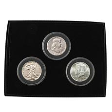 3pc Last Century Uncirculated 90% Silver Half Dollars