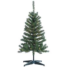 4' Pre-Lit Cumberland Pine Tree - 100 Clear Lights