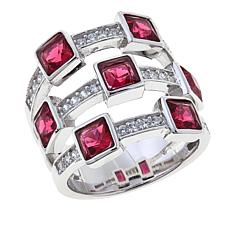 .42ctw Absolute™ and Simulated Ruby Station Ring