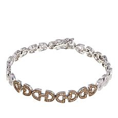 .46ctw Champagne-Colored Diamond Art Deco-Inspired Line Bracelet