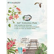 """49 And Market Collection Pack 6"""" x 8"""" - Vintage Artistry Beached"""
