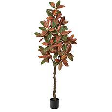 6' Fall Magnolia Artificial Tree