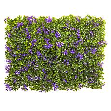 6 in. x 6 in. Purple and Green Clover Mat Set of 12
