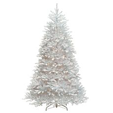 7-1/2' Dunhill Fir  White Tree w/Lights