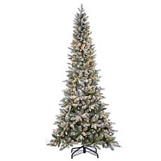 7-1/2' Lightly Flocked Canyon Fir Tree - 450 Clear Lights