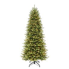 7-1/2' Slim Franklin Fir Artificial Christmas Tree - 500 Clear Lights