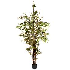 7' Artificial Potted Japanese Bamboo Tree