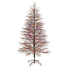 7' Frosted Berry Twig  Christmas Tree with 450 Lights