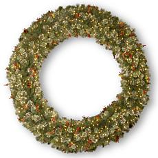 "72"" Wintry Pine Wreath w/Lights"