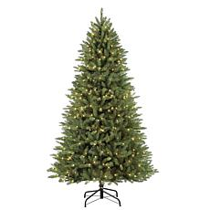 7.5' Narrow Franklin Fir Artificial Christmas Tree - 600 Clear Lights