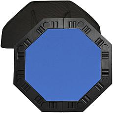 "8-Player 48"" Octagonal Poker Tabletop - Blue"